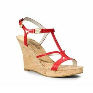 EUC Michael Kors Cicely Strappy Cork Sandals